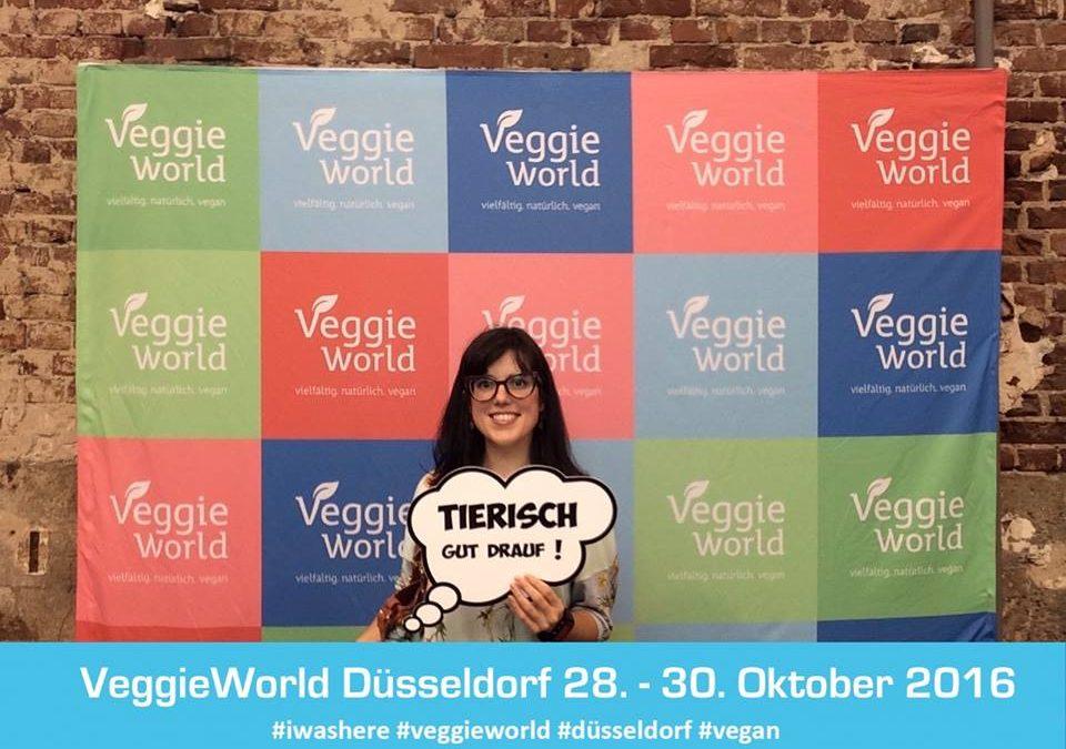 Eine Italienerin auf der VeggieWorld in Düsseldorf