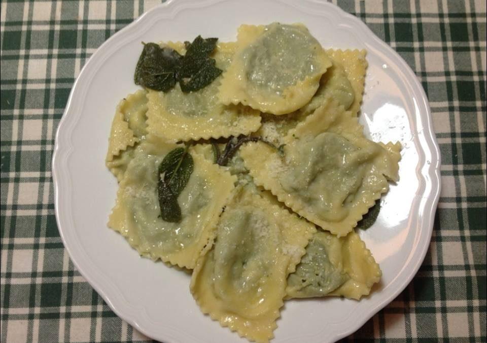 Hausgemachte Mangold-Maultaschen á la Saccani