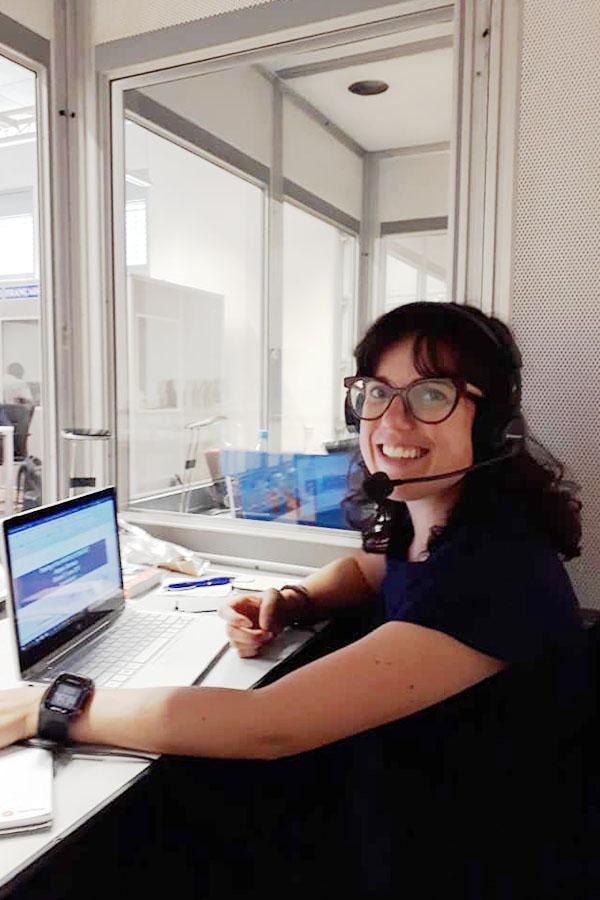 Caterina Saccani professionelle Simultandolmetscherin